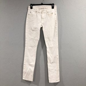 7 For All Mankind | Kimmie Straight Leg White Jean